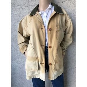 VINTAGE | Chore jacket cotton canvas with fading